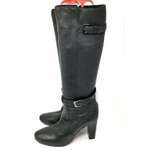 Cole Haan Air Boots Women's Black Lambskin 10B